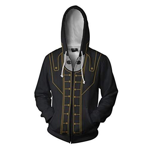 Xiao Maomi Corvo Cosplay Unisex 3D Print Hoodie Zipper Sweatshirt Pullover Game Costume for Men Halloween Outfit (L, Color 1)]()