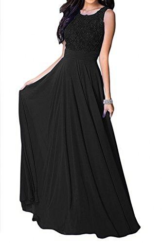 Charmant Aermellos Blau A Lang linie Neu Spitze Royal Schwarz Damen Promkleider Abiballkleider Abendkleider rxIfrH
