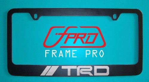 Amazon.com: Toyota Trd Black License Plate Frame (Zinc Metal): Automotive