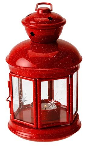GSI Outdoors Red Graniteware Fiesta Candle Lantern (Large Graniteware)