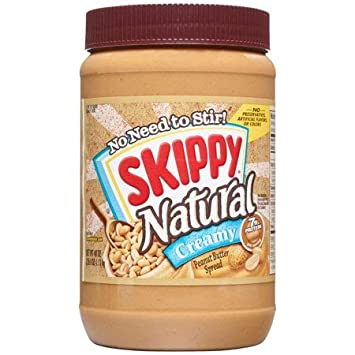 Skippy Natural Creamy Peanut Butter Spread, 40 Ounce (Pack Of 3)