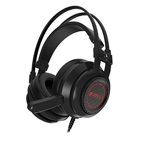 Gaming Headset, ZIDLI ZH5 Over Ear Headphone with LED Light Stereo Noise Isolating Earphone with Mic