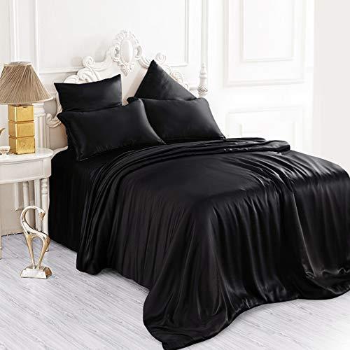 (ElleSilk Silk Duvet Cover, Premium Quality Pure Mulberry Silk, Hypoallergenic, Queen Size,)