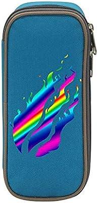 Porta lápices, Estuche para lápices, Preston Fire Nation Playz Gamer Flame Printed Pencil Case, Pen Bag, Boys Girls Adults Portable Pouch Bag with Double Zippers: Amazon.es: Oficina y papelería
