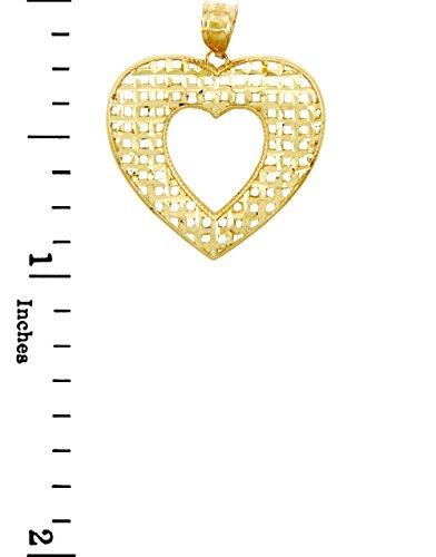 10 ct 471/1000 Or Basketweave Coeur- Pendentif