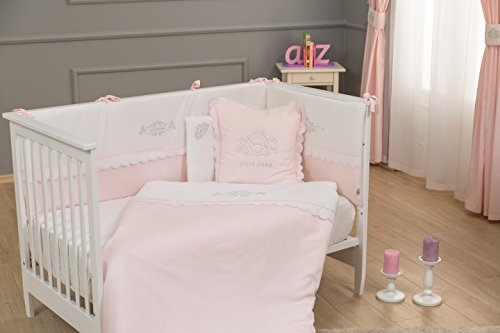 PINK STARS//LIGHT PINK more Baby Bedding Set fit Cot 120x60cm or Cot Bed 140x70