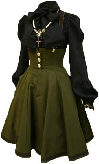Vestido Medieval Sin Manga Mujer Noche Fiesta Traje Medieval Disfraz Largo Sin Camisa Verde 2XL: Amazon.es: Ropa y accesorios