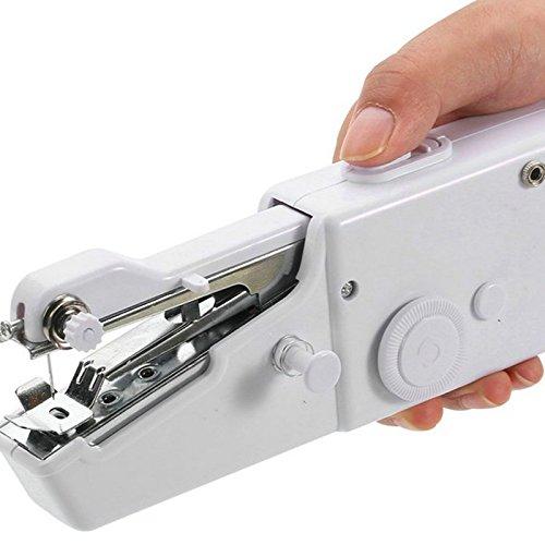 E-lishine Handy Stitch,Mini Handheld Portable Electric Sewing Machine for Fabric, Clothing, Kids Cloth Home Travel Use