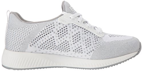 Skechers Squad Donna Spark Bobs Bianco Sneaker Infilare Hot OOwRqrz