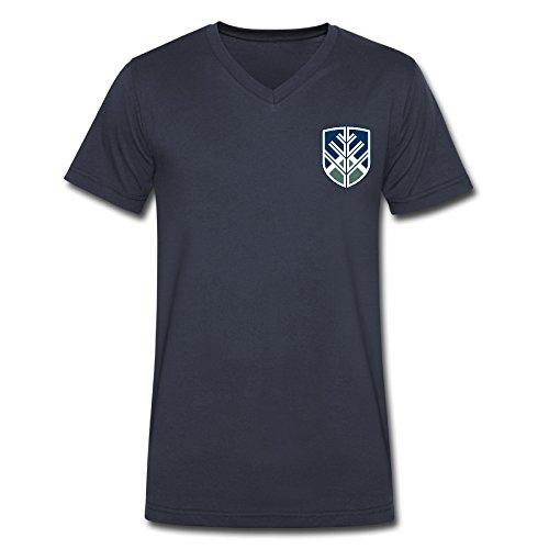 Northern Arizona University Men's V Collar Short T Shirt Navy X-Large