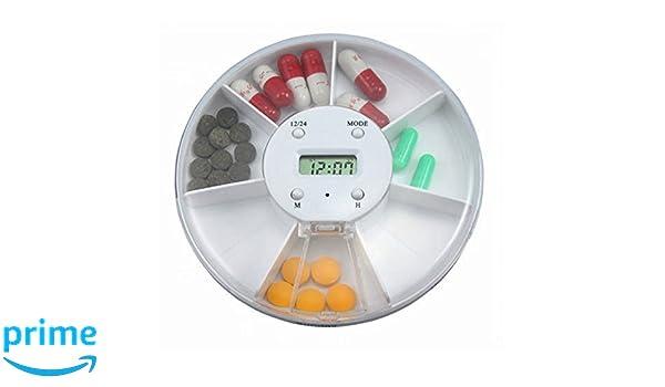 Pixnor Pastillero electrónico con alarma, dispensador ...