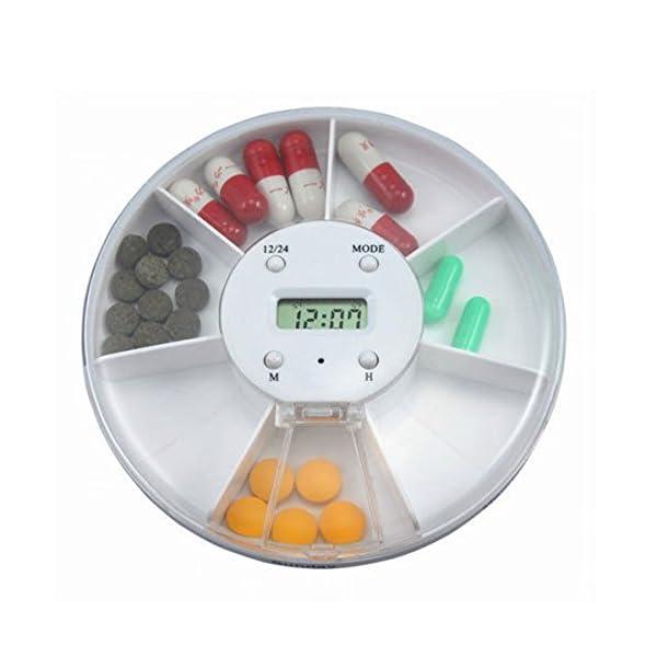Pixnor - Pastillero electrónico y automático, con alarma recordatorio, dispensador de pastillas 2