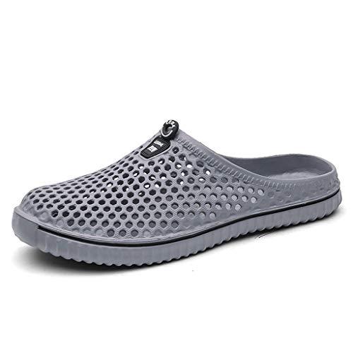 Men Womens Hollow Out Shoes - Casual Couple Unisex Beach Sandal Flip Flops Shoes,2019 New Gray ()