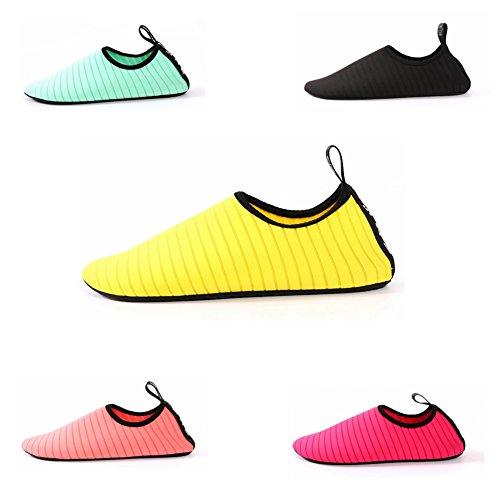 Eachbid Wasser Schuhe Aqua Schuhe Männer Frauen Barfuß Quick-Dry für Schwimmen, Wandern, Yoga, See, Strand Gelb