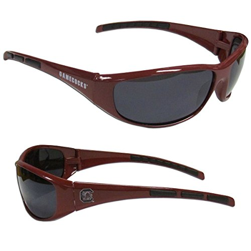 Purchadise NCAA 3-Dot Wrap Sunglasses-UVA and UVB Protection-Many Teams! (South Carolina Gamecocks) South Carolina Football