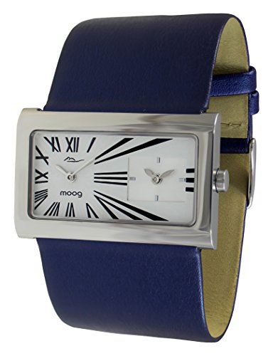 Moog Paris Stars Women's Watch with White Dial, Blue Strap in Genuine Leather - M41612-009
