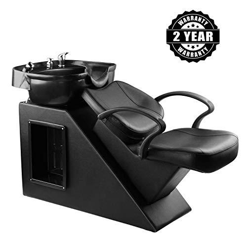 DOIT Shampoo Chair Backwash Bowl Unit Station Barber Chair Spa Salon Equipment (black) from DOIT