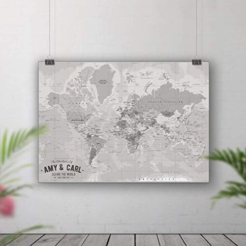 World map pin board, Places we\'ve been map, Push pin travel ...