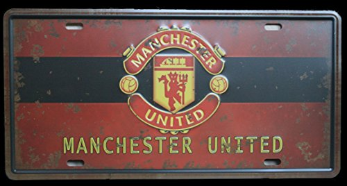 Manchester United License Plate - Manchester - Antique License Plate Tin