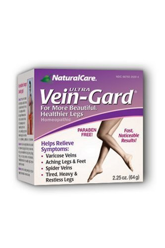 NaturalCare Homeopathic Ultra Vein-Gard Leg Therapy Cream, 2.25-Ounce Packages (Pack of 2) by NaturalCare ()