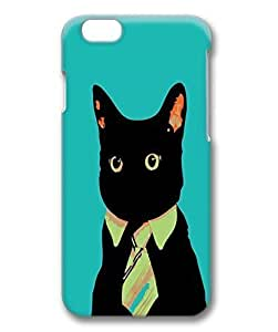 Business Cat Protective Hard PC Snap On 3D Case for iphone 6 4.7-1122018