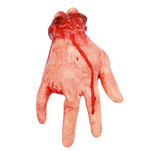 ed Bloody Fake Hand Leg Broken Rubber Toy Halloween Haunted House Party Props and Cosplay (E) ()