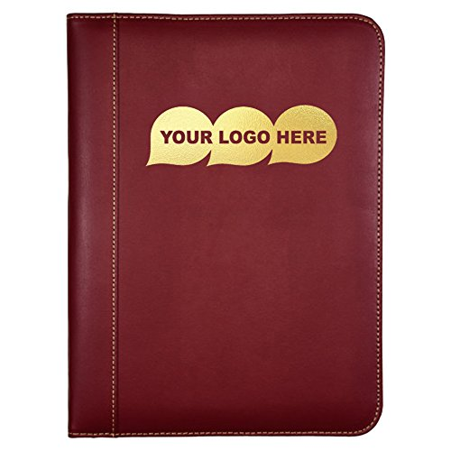 (Contrast Stitch Leather Padfolio / Size: 9.43″ L x 12.5″ H x .75″ W - 250 Quantity - $12.49 Each - PROMOTIONAL PRODUCT / BULK / BRANDED with YOUR LOGO / CUSTOMIZED)