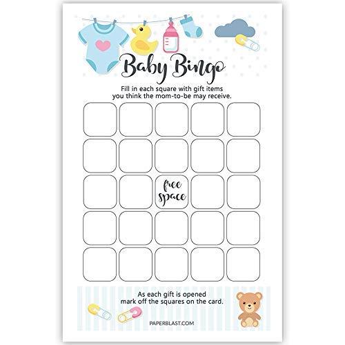 Amazon Com Baby Shower Game Blank Bingo Cards Handmade