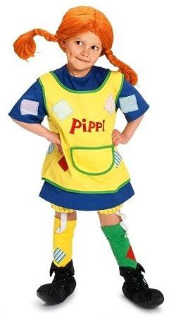 Micki Pippi Langstrumpf - Disfraz con guantes & pelo: Amazon.es ...