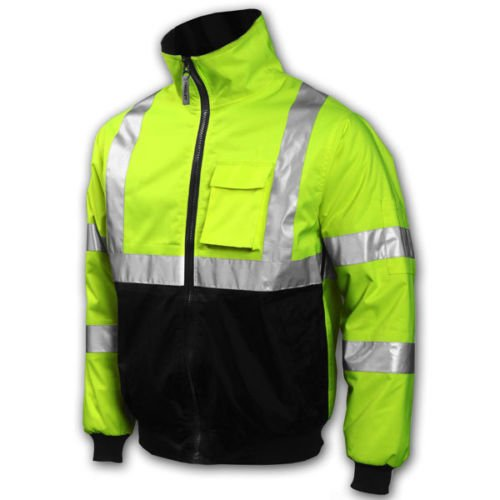 Tingley Job Site Premium Bomber Jacket, Fluorescent Lime-Gre