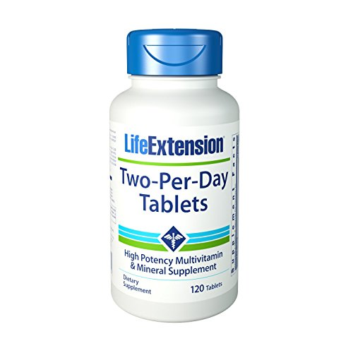 Life Extension Two-Per-Day Tabletten, 1er Pack (1 x 120 Stück)