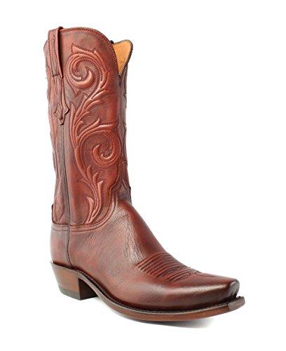 Lucchese N4773.74 Nicole Womens Antique Wine Burn Lederen Cowboy Westernlaarzen