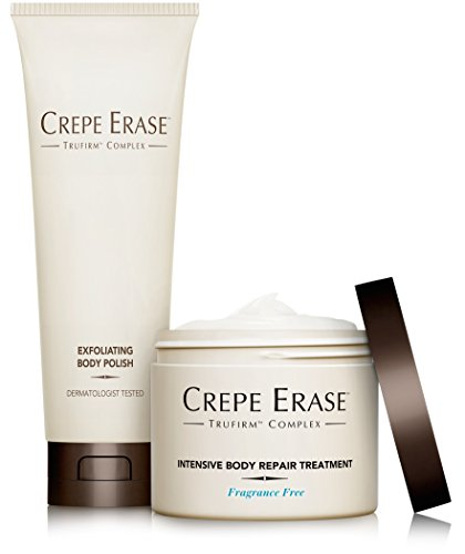 Crepe Erase – Full Size Body Duo – Fragrance Free – TruFirm Complex – Intensive Body Repair Treatment and Exfoliating Body Polish