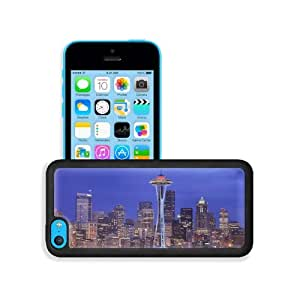 Cityscapes Seattle Canada Space Needle Apple iPhone 5C Snap Cover Premium Leather Design Back Plate Case Customized Made to Order Support Ready 5 inch (126mm) x 2 3/8 inch (61mm) x 3/8 inch (10mm) MSD iPhone_5C Professional Case Touch Accessories Graphic