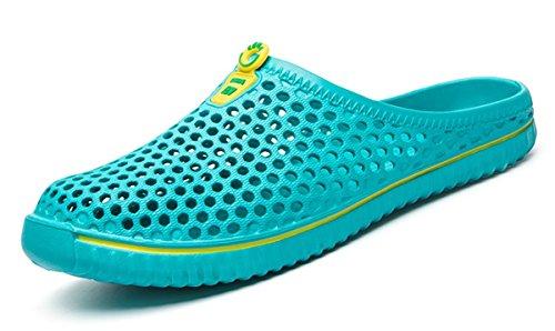 Beeagle Womens Mens Unisex Clogs Comfortable Lightweight Walking Garden Shoes Slippers Quick Drying Sandals 36-45 Light Blue