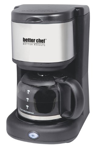Better Chef IM-104S Better Chef 4-Cup Coffee Maker with Stainless Steel Accents