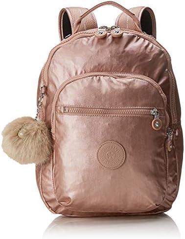 Kipling CLAS Seoul S Mochila Escolar, 34 cm, 10 litros, Dorado (Metallic Blush): Amazon.es: Equipaje