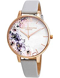 Watercolour Florals Watch in Blush and Rose Gold