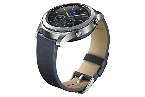 Samsung Leather Medium Wrist Strap for Samsung Gear S3 Frontier/Classic (ET-YSL76MNEGUS) Navy Blue
