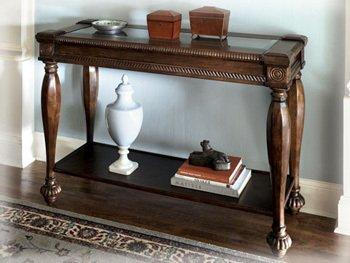 Dark Brown Rustic Living Room Sofa Table