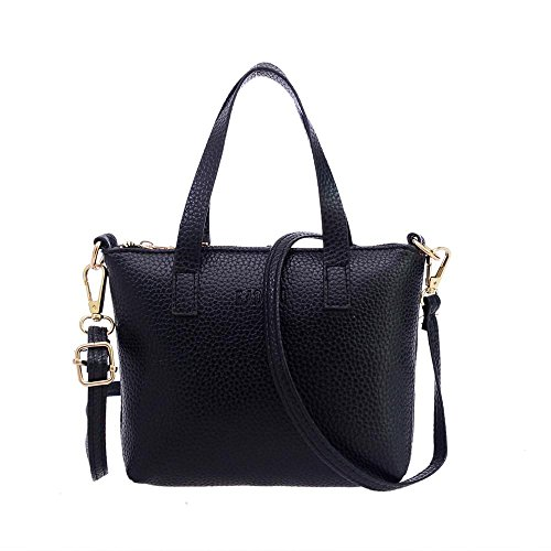 Vintage Shoulder Bag Bag Zipper Ladies Messenger Fashion Women Handbag Purse Girls Mini Black Solid Ladies Bags Tote wqYF0P1H