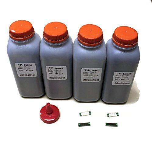4x toner refill kit with chips for Oki Okidata B411, B431,MB461,MB471,MB491 printer