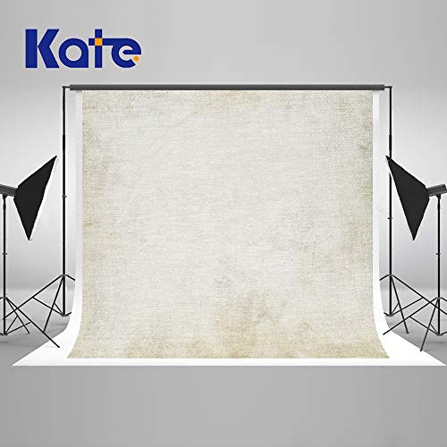 Kate 7×5ft Ivory White Portrait Backdrops Abstract Photography Background Old Master Texuture Photo Backdrops for Photographer Soft Fabric Cloth Seamless Photo Headshot Props (Photographer Background)