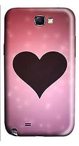 Samsung Note 2 Case Love Silhouette 3D Custom Samsung Note 2 Case Cover
