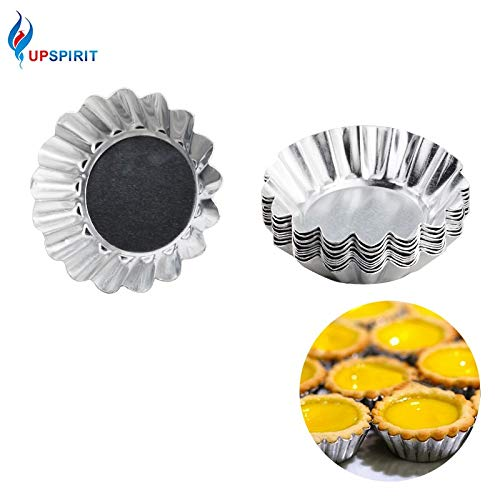 Laliva 10Pcs/set Silver Aluminum Cupcake Egg Tart Mold Cookie Pudding Mould Makers Kitchen Accessories Baking Pastry Tools