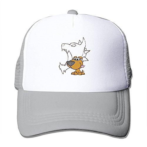Cool Leopard Dog Adult Mesh Trucker Hat Cap One Size (Adult Leopard Print Cowboy Hat)