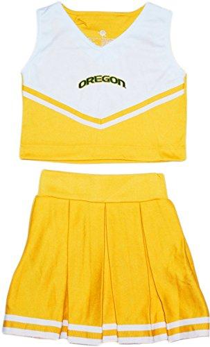 Piece Dress 2 Cheerleader (Creative Knitwear Oregon Ducks Arched Oregon 2-Piece Cheerleader Dress)
