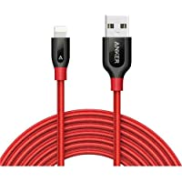 Anker PowerLine+ Lightning Kablo 1.8 Metre iPhone Şarj/Data Kablosu MFI Lisanslı -Kırmızı  - Taşıma Çantalı -  A8122H91 - OFP