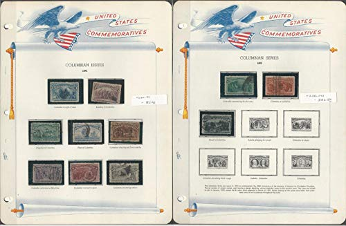 United States Stamp Collection in White Ace Album 1893-1939 Comm, JFZ