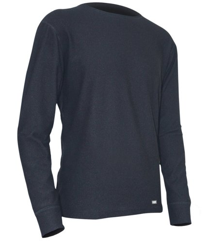 - Polarmax Unisex Child Quattro Fleece Long Sleeve Crew Tee (Black, Large)